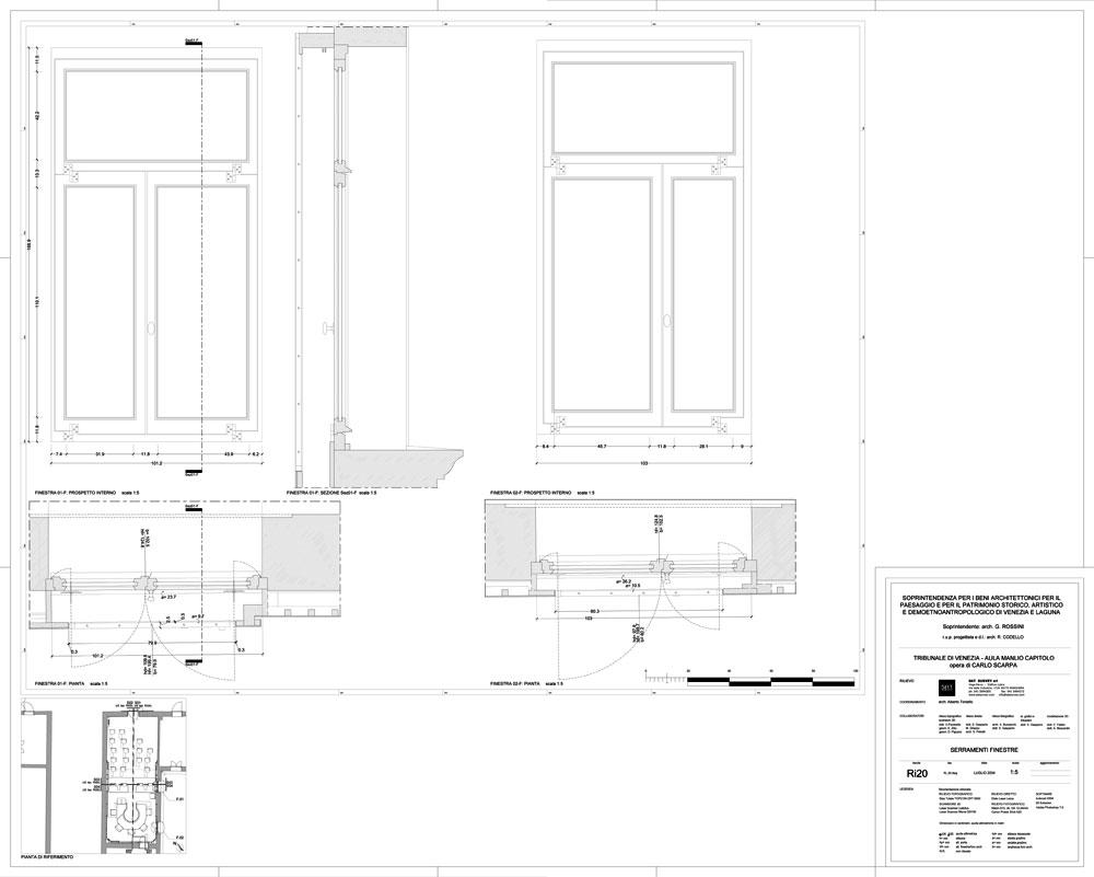 Disegni carlo scarpa rs028 ri20r - Finestre in pianta dwg ...